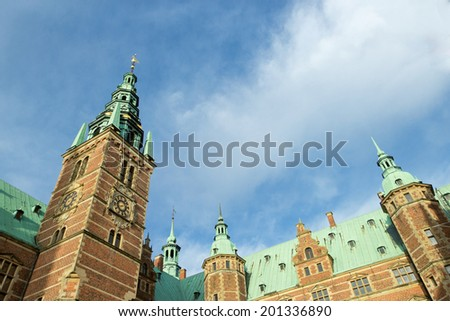 Fredriksborg Castle biuld for king  Christian IV in Hillerod, Denmark - stock photo