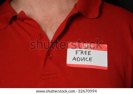 Free Advice - stock photo