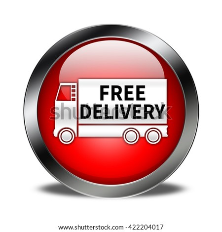 free delivery button isolated
