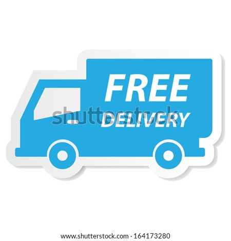 Free delivery icon.JPG - stock photo