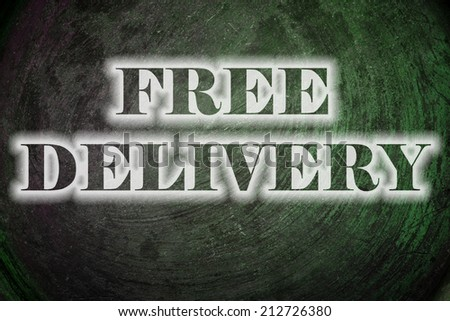 Free Delivery Text on Background - stock photo