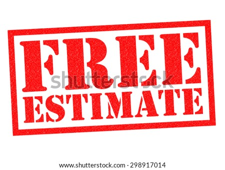 FREE ESTIMATE red Rubber Stamp over a white background. - stock photo