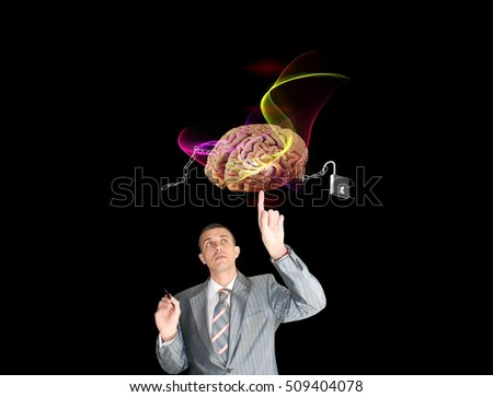 Free high technologies idea businessman