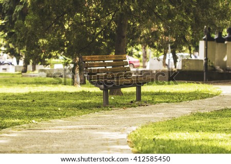 free park bench