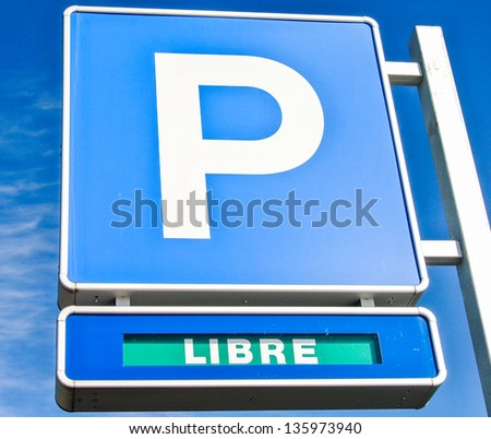Free parking sign - stock photo