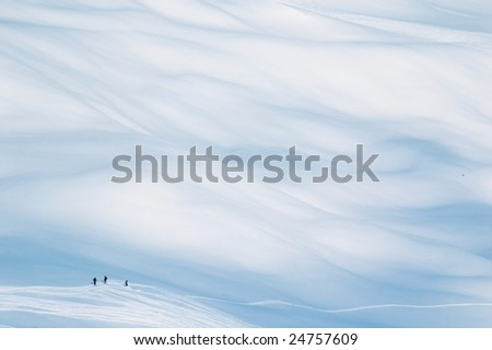 free ride in Solden (Austria) - stock photo