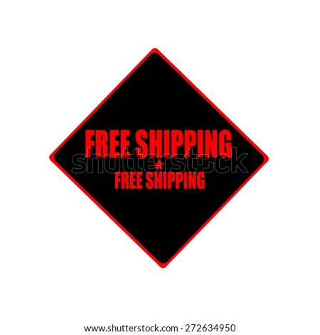free shipping red stamp text on black background - stock photo