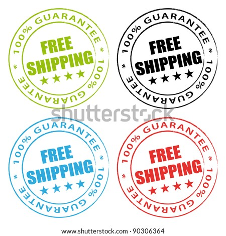 Free shipping stamps set. - stock photo