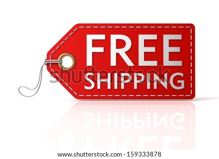 Free Shipping Tag - stock photo