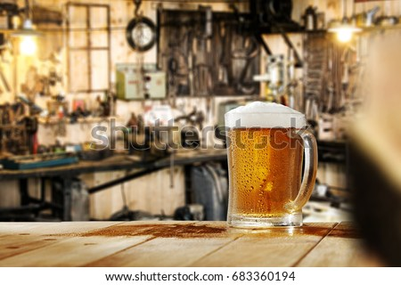 free space for your beer and workshop background
