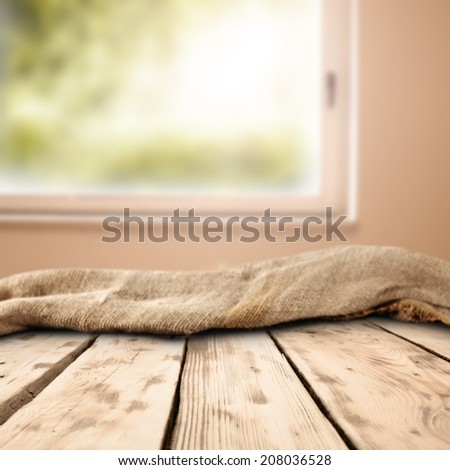 free space on table and window  - stock photo