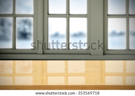 free space on window sill and yellow desk space and free space