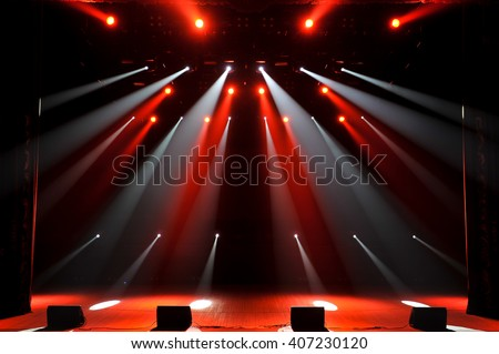 Free stage with lights - stock photo