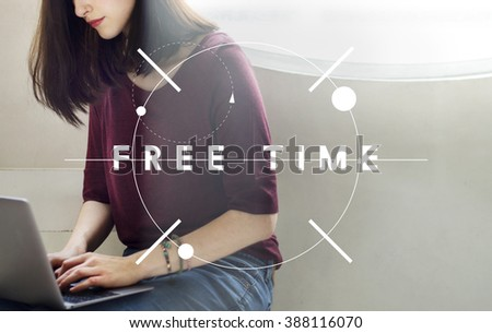 Free Time Holiday Available Relaxation Concept - stock photo