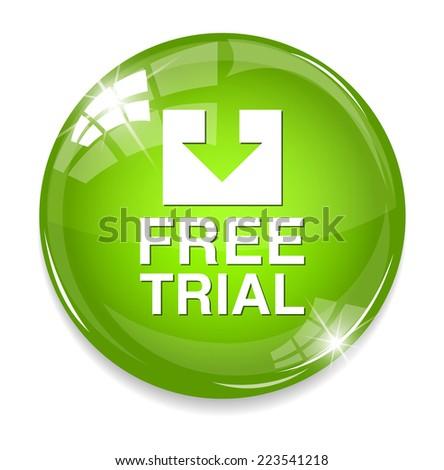 Free trial button - stock photo