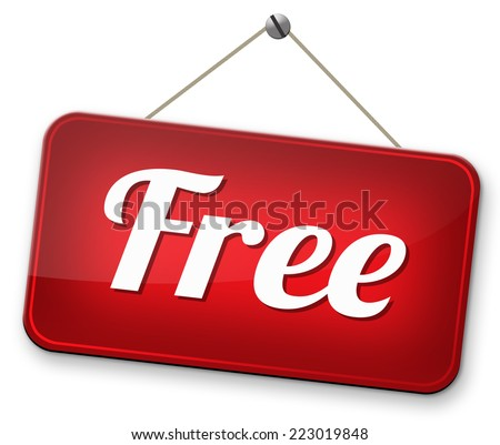 free trial no charge gratis product sample - stock photo