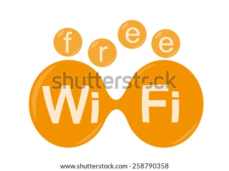Free wi-fi zone icon - stock photo