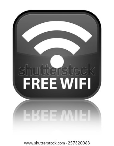 Free wifi black square button