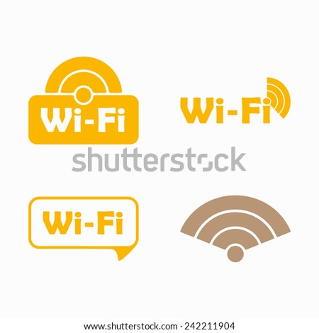 Free Zone wi-fi, sticker - stock photo