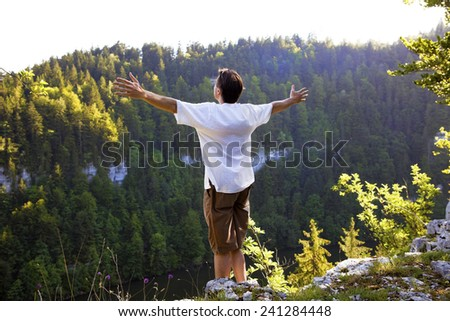 Freedom in the Great Outdoors - stock photo