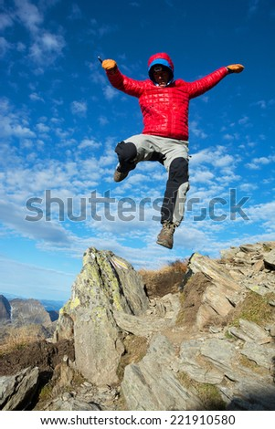 Freedom in the mountains - stock photo
