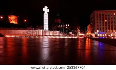 Freedom Square in Tallinn, Estonia - stock photo