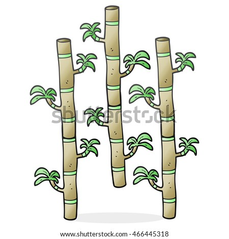freehand drawn cartoon bamboo