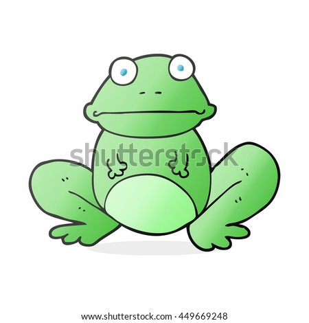 freehand drawn cartoon frog