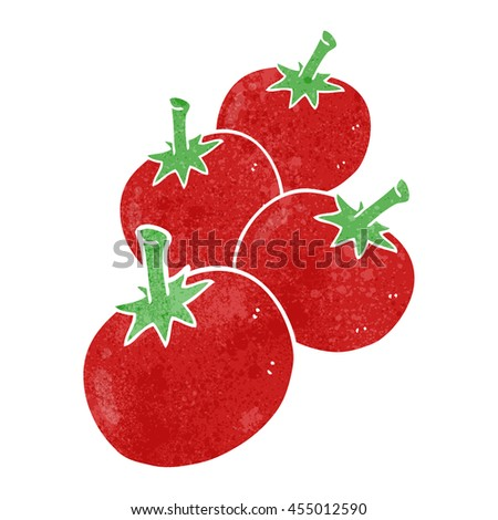 freehand retro cartoon tomato