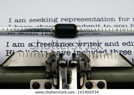 Freelance writer letter - stock photo