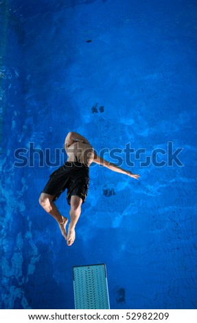 freestyle diver - stock photo