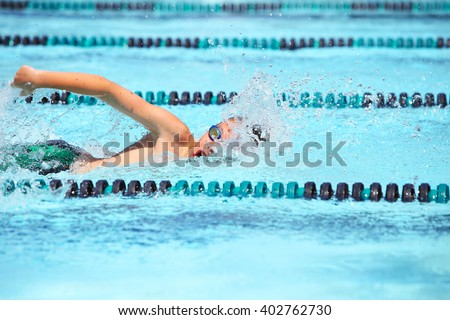 Freestyle swimmer - stock photo