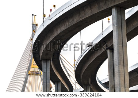 freeway structure White background - stock photo