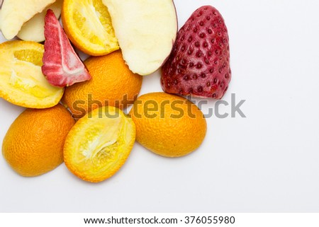 freeze-dried fruit - stock photo