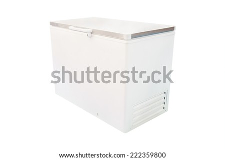 freezer under the white background - stock photo