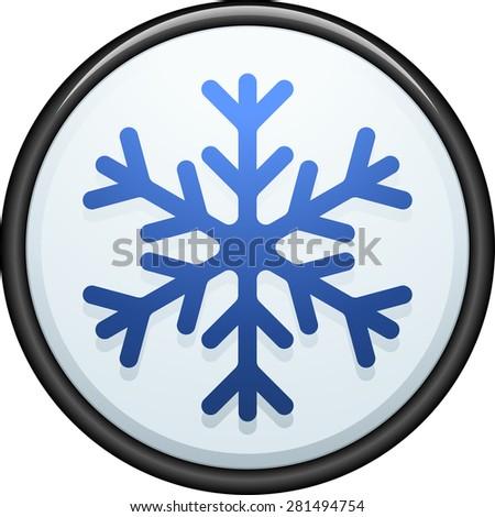 Freezing button - stock photo