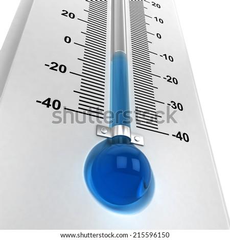 Freezing cold. 3d illustration isolated on white background  - stock photo