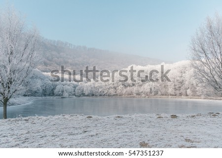 Freezing cold landscape