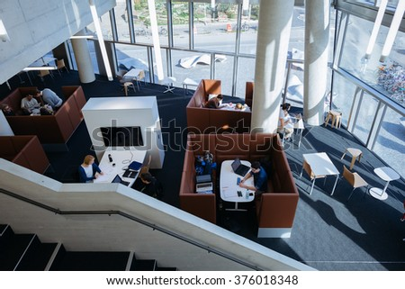 Modern library stock images royalty free images vectors for Interior design freiburg