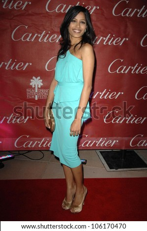 Freida Pinto  at the Palm Springs Film Festival Gala. Palm Springs Convention Center, Palm Springs, CA. 01-06-09