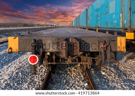 Freight cars on a railway - stock photo