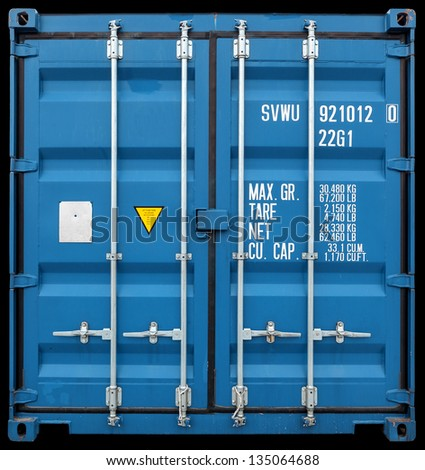 freight container - stock photo