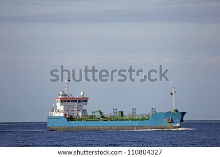 Freight ship near Kiel, Germany