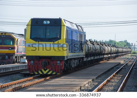 freight train with tank oil