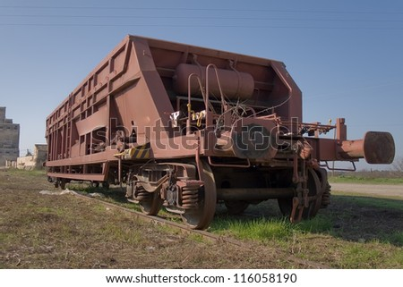 freight wagon abandoned on a Spanish station