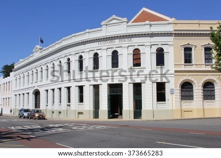FREMANTLE, WESTERN AUSTRALIA - November 14. The Customs house is an ancient heritage building on November 14, 2015 in Fremantle. Suburb of Perth.