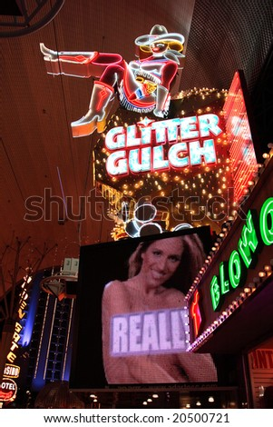 Fremont Street Experience, Las Vegas, USA - stock photo