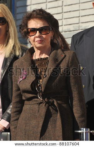 French actress Leslie Caron was honored today with the 2,394th star on the Hollywood Walk of Fame. December 8, 2009  Los Angeles, CA Picture: Paul Smith / Featureflash
