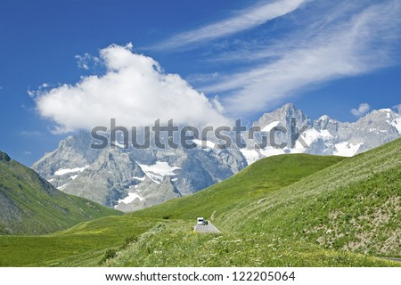 French Alps, mountain landscape. France. - stock photo