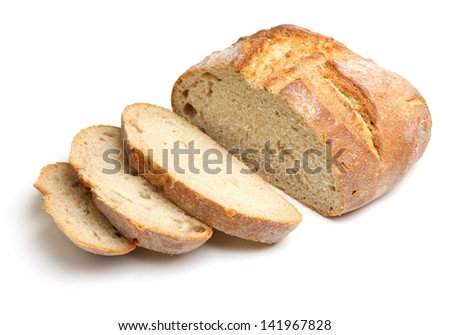 French artisan bread loaf - stock photo